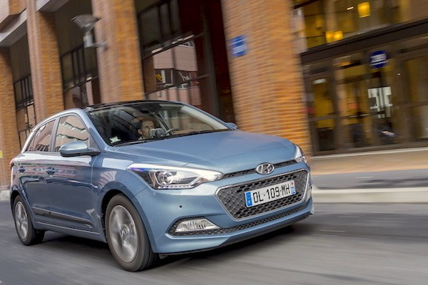 Hyundai i20 Austria August 2015. Picture courtesy largus.fr