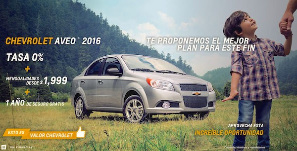 Chevrolet Aveo Mexico October 2015