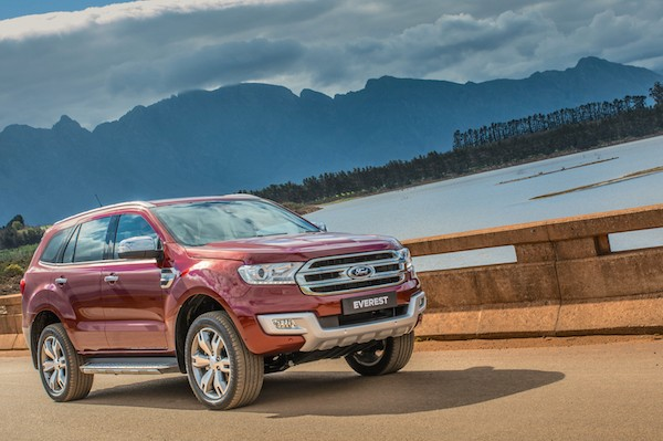 Ford Everest South Africa October 2015