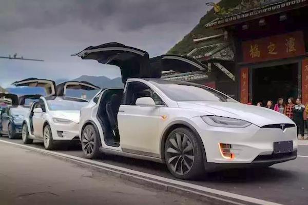 Tesla Model X China June 2017. Picture Sohu.com